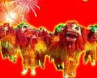 春节习俗 舞狮子